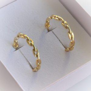 Guld øreringe i forgyldt sterlingsølv creoler i høj kvalitet