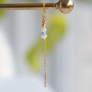 ørekæde i guld med perler